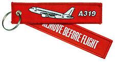 REMOVE BEFORE FLIGHT A319 Schlüsselanhänger Keyring Airbus 319