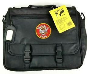 Miller Beer Brief Case Bag Convention Swag NEW Black 16 x 13 Inches Toppers