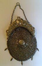 Vintage victorian mesh bag-German silver-unusual.