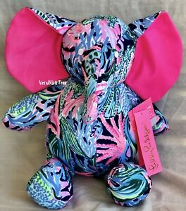 Lilly Pulitzer BRINGING MERMAID BACK Plush MINNIE ELEPHANT Stuffed Animal 🐘TOY