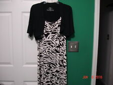 "NWOT Women's ""Soma"" Spaghetti Strap Dress with Mini Jacket Size L (Animal print)"
