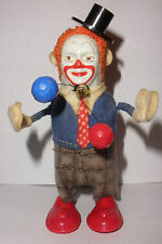 Vintage Schuco #965 Tin Wind-Up Dancing Juggling Clown with key