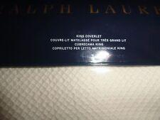 Ralph Lauren King Blanket Adelaide Coverlet Cream 100% Cotton NIP $355