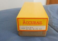 Accurail 40' Double Door Steel Box Car Chicago North Western  plastic Kit  NIB
