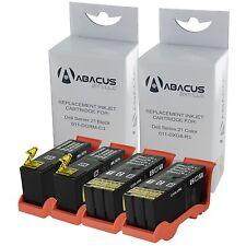 Set of 4 Ink Cartridges Black/Color for Dell All-In-One V515w V313w V313 Printer
