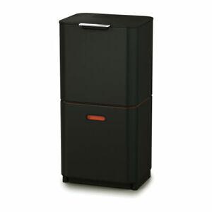 Joseph Joseph Waste and Recycling Kitchen Bin Totem Max 60 Black Kitchen Storage