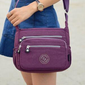 Womens Ladies Waterproof Messenger Cross Body Handbag Bag Shoulder Purse