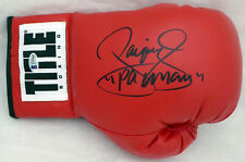 """MANNY """"PACMAN"""" PACQUIAO AUTOGRAPHED RED TITLE BOXING GLOVE LH BECKETT BAS 173998"""