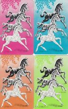 GENUINE SWAP PLAYING CARDS - 4 SINGLE - HORSES - #34