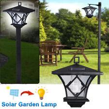1.5M Solar Power Light Lamp Post Lantern Yard Stake Outdoor Garden Lighting 2In1