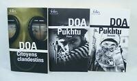 Lot de 3 livres DOA PUKHTU 1 & 2 Citoyens clandestins Folio Policier 2018 D.O.A
