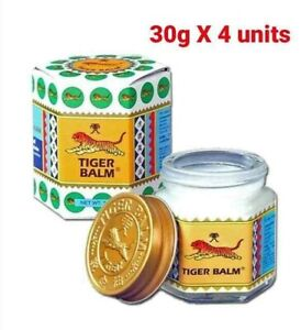 4x 30g Tiger Balm WHITE Ointment Relief Pain Muscle Aches Sprains