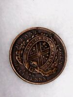1844 1/2 Penny Bank of Montreal Token - Quebec