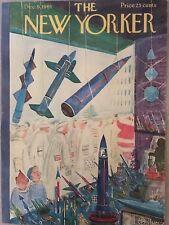 COVER ONLY The New Yorker magazine ~ December 9 1961 ~ KOVARSKY ~ Boys Rockets
