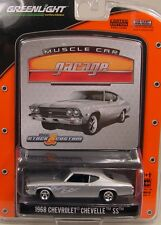 SILVER 1968 CHEVROLET CHEVELLE SS396 GREENLIGHT 1:64 SCALE DIECAST METAL CAR