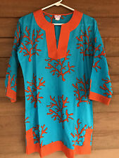 8e61c60c9b Top It Off Coral Tunic / Beach Bathing Suit Cover Up S/M In Lovely