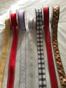 Luxury Wire- Edged RIBBON width:   1.5 in or  3.8 cm