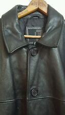 J Ferrar Button Front Leather Jacket Coat Men's Size Extra Large (PRE-OWNED)
