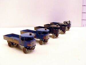 5 x Lesney Matchbox Models of Yesteryear No.4 Sand & Gravel Supplies Trucks Blue