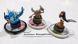 Pokemon Trading Figure Game TFG 3 X Spin Figures Gyrados + Pinsir + Taillow