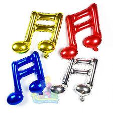"17"" 43cm music notes foil balloons. 2 designs in 4 colours each. Choose quantity"
