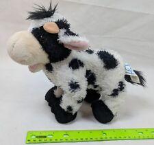 "Princess Soft Toys by Melissa & Doug Black & White Cow Plush 11"" Stuffed Animal"