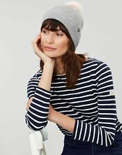 Joules Womens Snowday Knitted Bobble Hat - Grey Marl - One Size