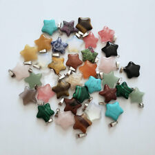 Wholesale 50pcs MIX Natural Stone pentagram Gemstone charms Necklace Pendants