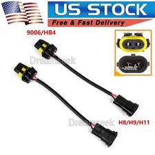 9006 Bulb to H8 H9 H11 Conversion Harness Socket Adapter for Headlight Fog Lamp