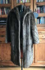 Vintage Faux Simulated Fur Ladies Woman's Coat / Jacket Long Brown By Marno Mink