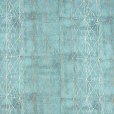 Tela de las cortinas de tela decorativa triángulos geométricamente offweiß negro 1,4m ancho