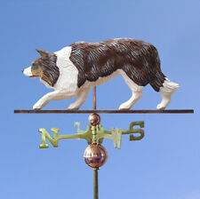 Border Collie Hand Carved Hand Painted Basswood Dog Weathervane Red Merle
