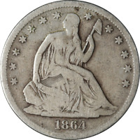 1864-S Seated Half Dollar - Civil War Date Great Deals From The Executive Coin C