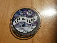 "Accuflex clear coated 7 strand .019"" Stainless Steel, 100ft. spool"