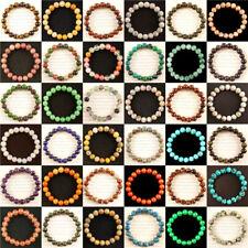 6/8/10mm Mixed Stone Round Beads Stretchy Bracelets CJ002