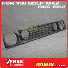 For 85-92 VW Golf MK2 Front Euro Style Badgeless Bumper Upper Grille Quad Round