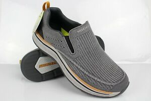 Skechers Men's Relaxed Fit Remaxed Edlow Slip-On Size 9.5 Charcoal 204375
