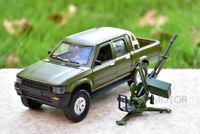 1/32 Jackiekim Toyota Hilux Pick up Truck Anti-tank Diecast Car Model + Gun