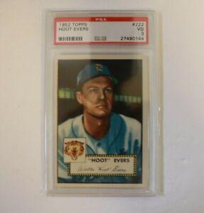 1952 Topps #222 Hoot Evers PSA 3