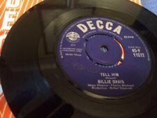Tell Him. Billie Davis. 1963 pop vinyl single. Decca. Original sleeve.