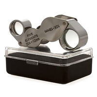 Dual Jewelry Loupe Magnifier Loop Glass Tool 10x/20x 18mm / 12mm for Jeweller