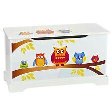Hiboux Jouet en bois boite avec couvercle enfants meuble chambre à coucher