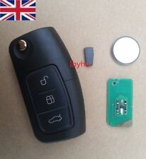 Ford Mondeo Focus Cmax Galaxy 433 MHZ+63 chip 3 Button Remote Flip Key Fob+Blade
