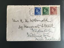 More details for gb 1936 eviii definitives fdc surface mail to nz - scarce item  (pse79)