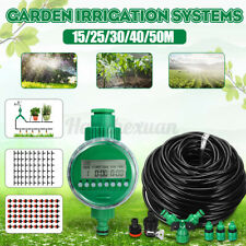 15M~50M Automatic Drip Irrigation System Plants Self Watering Timer Garden  @ne