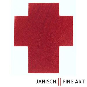 """ARNULF RAINER - """"Kreuz Rot Dunkel"""", Radierung , handsigniert, Auflage 30, 2009!"""