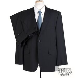 PAUL SMITH Westbourne Suit 44 R in Onyx Black Wool-Mohair 2-pc ITALY