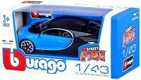 Bburago 1:43 Bugatti Chiron Highly Detailed Diecast Model Super Car Vehicle