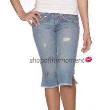 True Religion ✪ Joey Crop Jeans✪w Vintage Beading✪in Saddle Back✪25 NWT $216✪