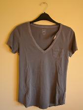 New! Gap women's grey vintage wash v-neck tee - XS - boho stretch soft t-shirt